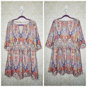 Modcloth Lace & Mesh Patterned Mini Dress 1x